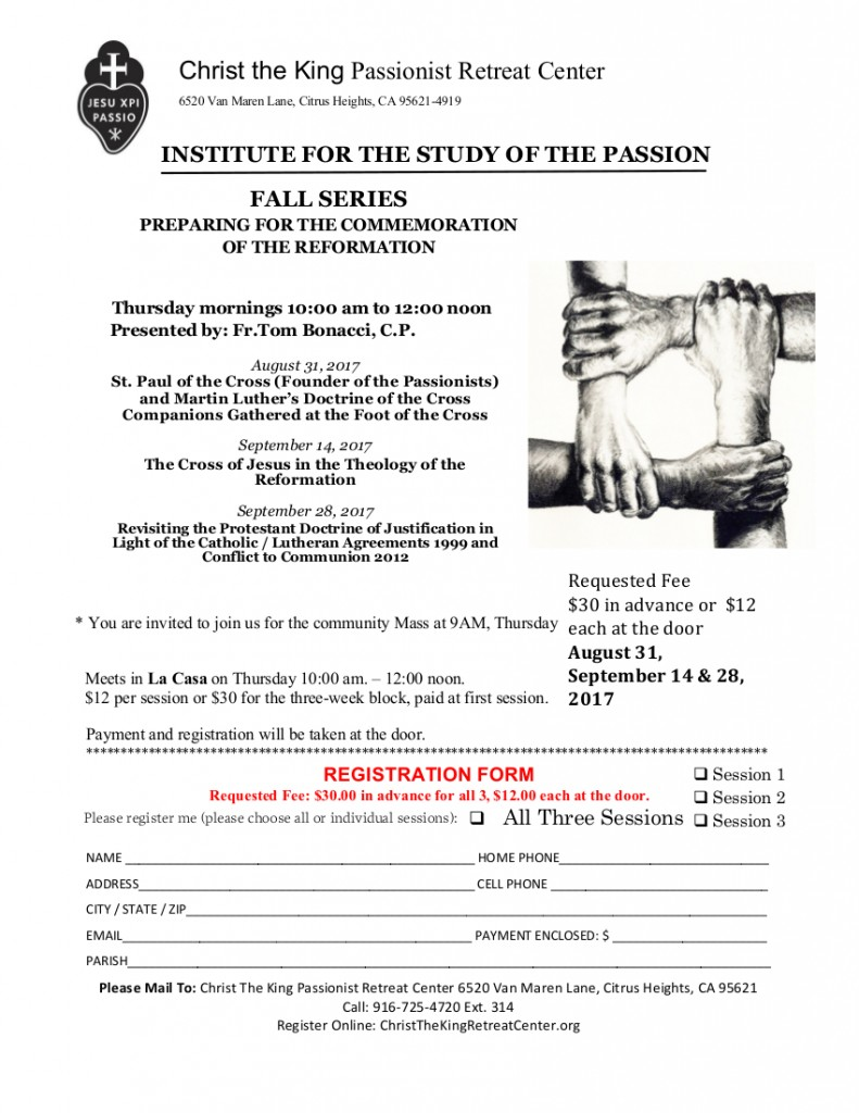 INSTITUTE OF THE PASSION Fall Series 2017